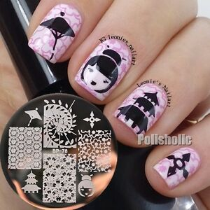 Image Is Loading Oriental Cherry An Theme Nail Art Stamp Template