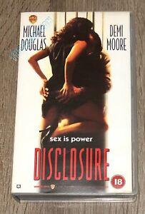 Disclosure 1994 Vhs Video Michael Douglas Demi Moore Erotic Thriller 5014780135758 Ebay