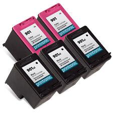 5 Recycled HP 901XL Ink Cartridge CC654AN CC656AN OfficeJet 4500 Inkjet Printer