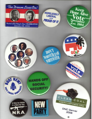 12 old LIBERAL LEFT political pin #c