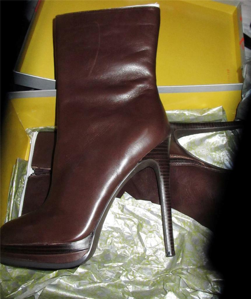 KELSI DAGGER  NEU 399 CARLOTTA BROWN LEATHER ANKLE BOOTS Schuhe SZ 9.5 M  NWT