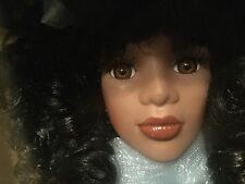 "Vintage1930s Collectors Choice African American Bisque Porcelain Doll 16"" - Rare"