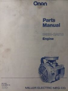 Details about Onan B48M-GA018 Engine Parts Manual Garden Tractor John Deere  Sears Welder 18 hp