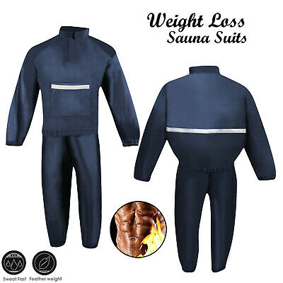 GroßZüGig Sauna Suit Heavy Duty Sweat Track Weight Loss Slimming Suit Boxing Gym