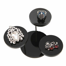 Jewelry Display Stand Acrylic Necklace Bracelet Earring Round Tray Rack Holder