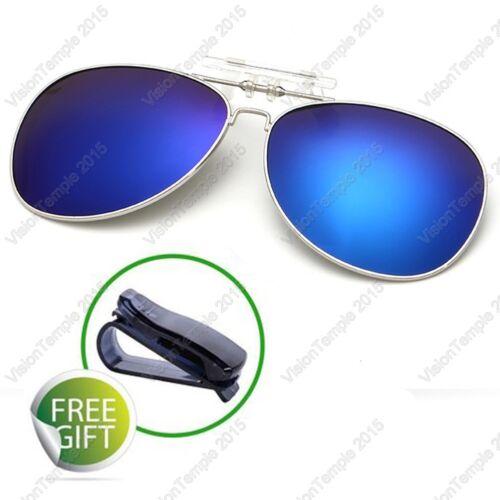UV400 Polarized Lens Flip-Up Clip On Sunglasses Driving Fishing