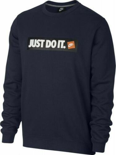 BRAND NEW TAGGED NIKE NSW SWEATER JUMPER TOP PULLOVER CREW FLEECE BLUE