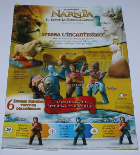 SORPRESA GADGET NESTLE/' MOTTA 2005 WALT DISNEY LE CRONACHE DI NARNIA PEZZI SINGO