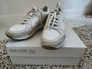 Geox-Leather-Suede-White-Pale-Pink-Trainers-Size-39