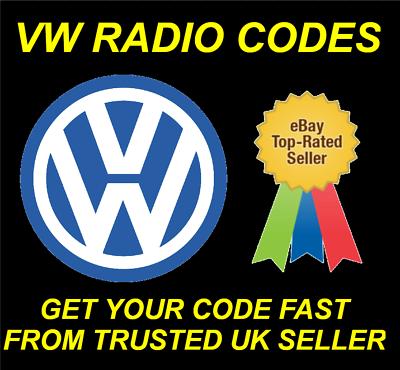Código de radio VW Sharan desbloquear Estéreo Pin RCD 510 310 300 200 210 215RNS 315 310