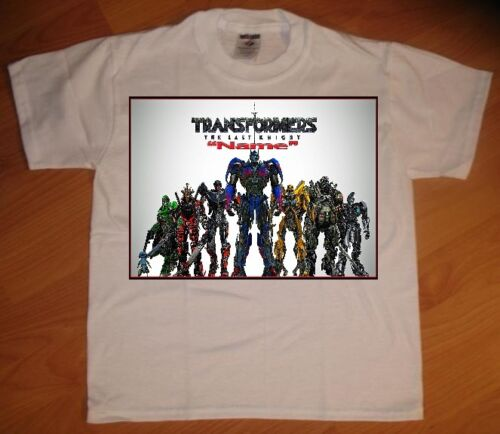 NEW Transformers Last Knight Personaliz​ed Birthday Party Favor Gift T-Shirt
