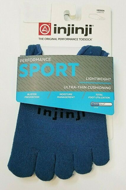 Injinji Sport Socks Lightweight Hidden Steel