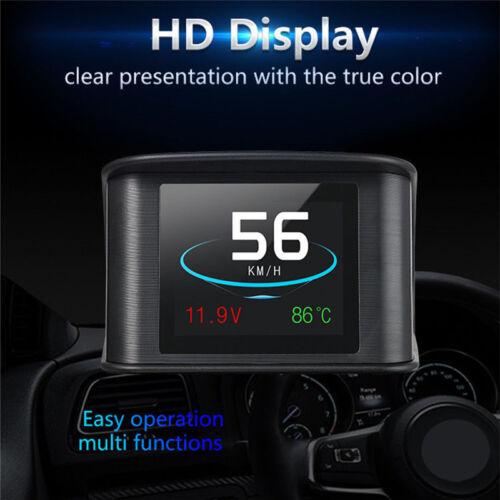 P10 Car HUD Head Up Display Smart Digital OBDII//EUOBD OBDII Diagnostic Tool EC