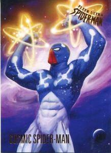 Spiderman-Fleer-Ultra-2017-Base-Card-22-Cosmic-Spider-Man