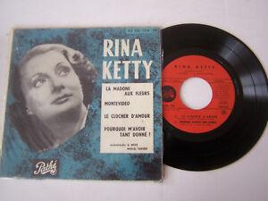 EP-4-TITRES-VINYLE-45-T-RINA-KETTY-LA-MADONE-AUX-FLEURS-VG-VG