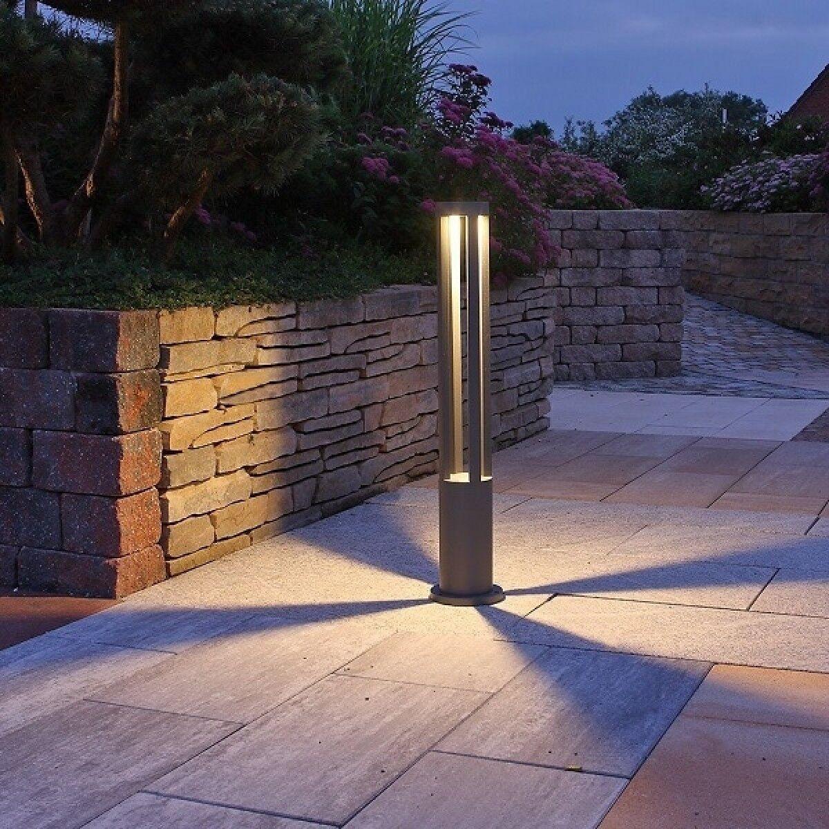 Applique Estaca Led Jardín Lámpara de Techo Hermético 10w blancoo Negro gris 80cm