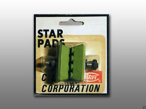 Green Brake Pads for BMX Freestyle Bikes Chang Star Pads Old School