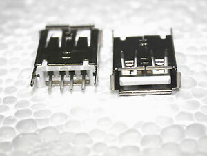 2pcs-USB-Type-A-Female-PCB-Mount-Socket-Connector-straight-pin-4-Pin-180-Degree