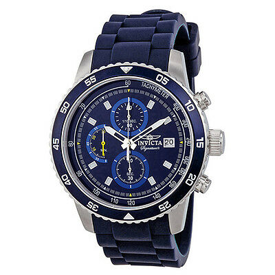 Invicta Signature II Chronograph Blue Dial Mens Watch 7395