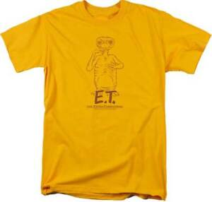 78740c46 E.T. The Extra Terrestrial Movie E.T. Smiling At You Adult T Shirt ...