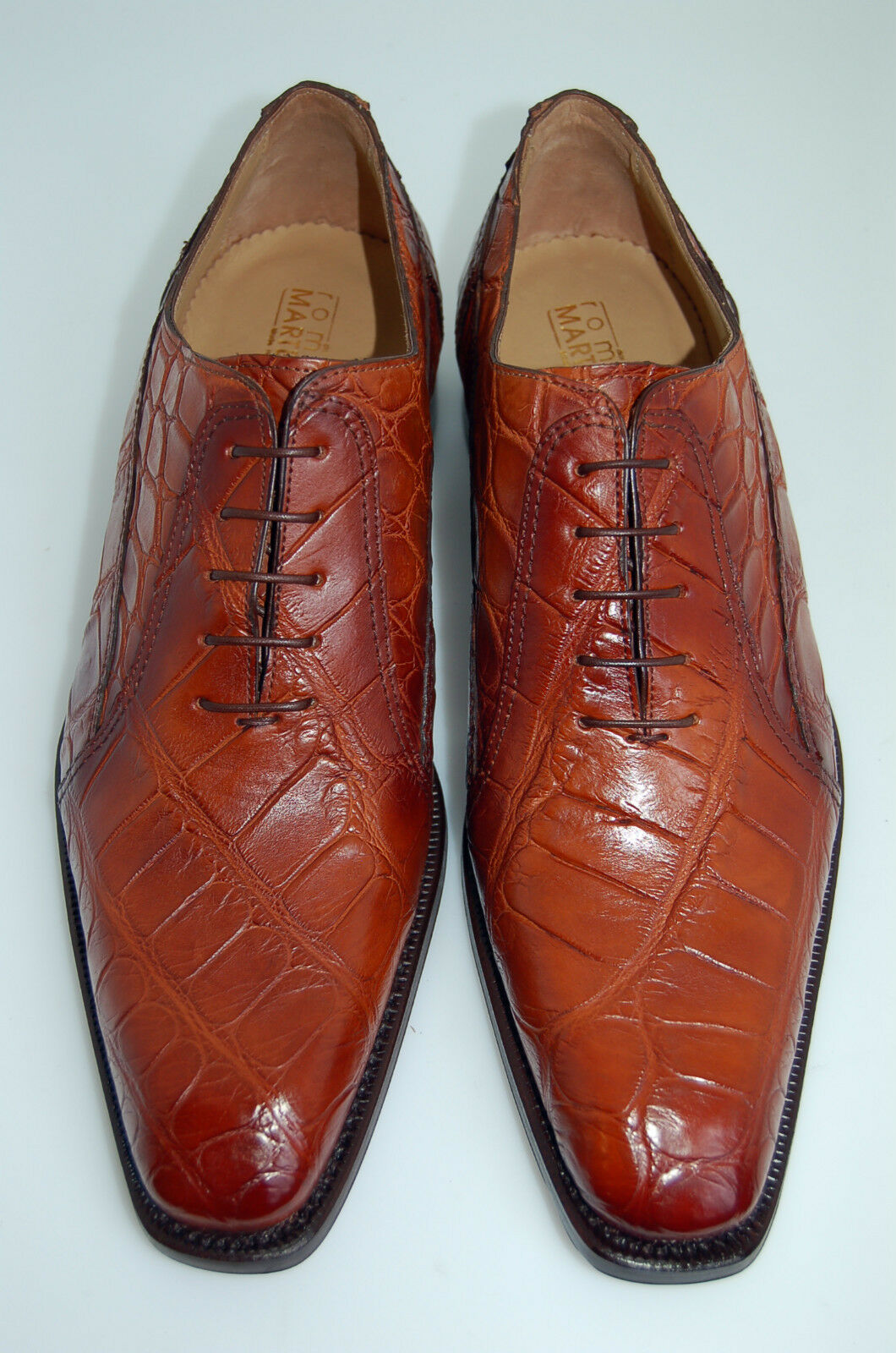 marca MAN - 44-10eu- OXFORD - GENUINE AIRBRUSH arancia arancia arancia ALLIGATOR-LEATHER SOLE BLAKE  punto vendita