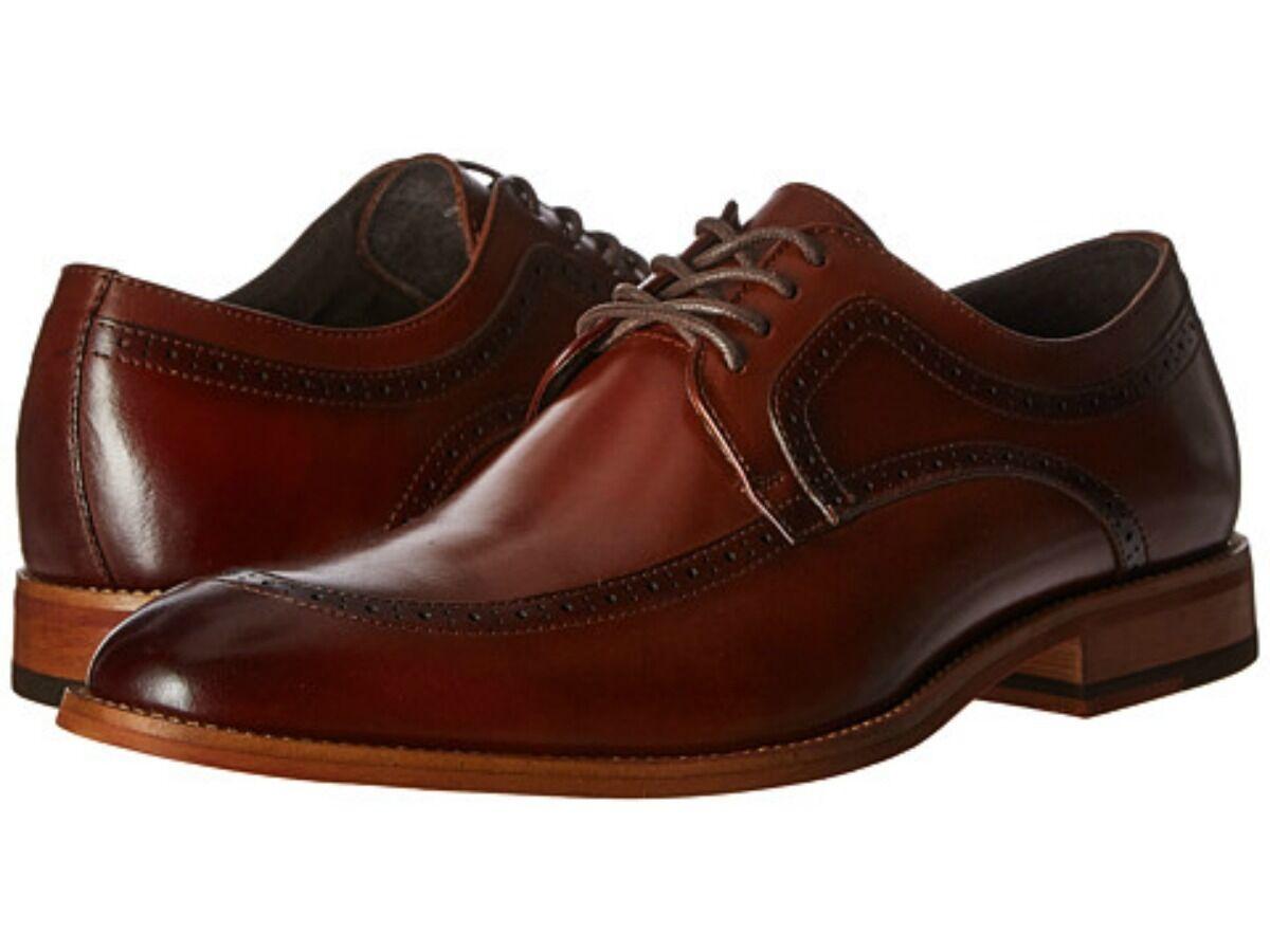 Zapatos De Vestir Vestir De Stacy Adams Para Hombre Dwight Moc Toe Oxford Cognac Cuero 25078-221 2d5d6a
