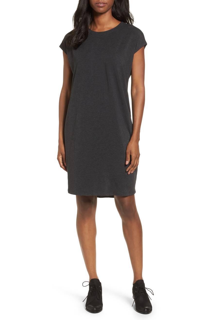nouveau Eileen Fisher Char léger Tencel Stretch Jersey Jewel NK robe XL 298