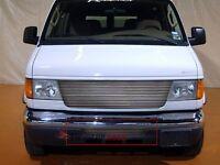 Billet Grille Insert 93 - 07 Ford Econoline Van Front Bumper Aluminum F65338a