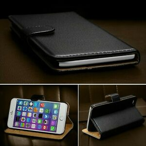 competitive price 59175 4ccb8 Details about iPhone 8 Case Luxury Real Genuine Leather Magnetic Flip  Wallet Cover