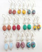 ONLINE SELL JEWELRY 10PR LOT STERLING SILVER OVERLAY EARRING CHRISTMAS OFFER