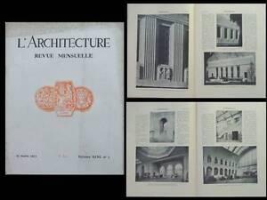 Actif L'architecture 1933 Paul Cret, Washington, Chateau Thierry, Gare De L'est Paris Art De La Broderie Traditionnelle Exquise