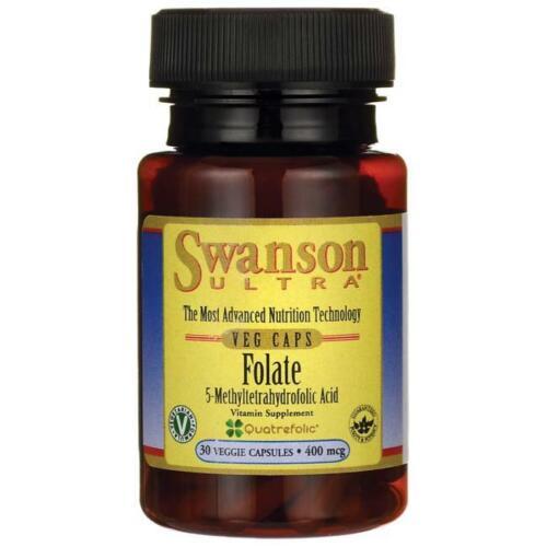 30 Veggie Caps Swanson Folate