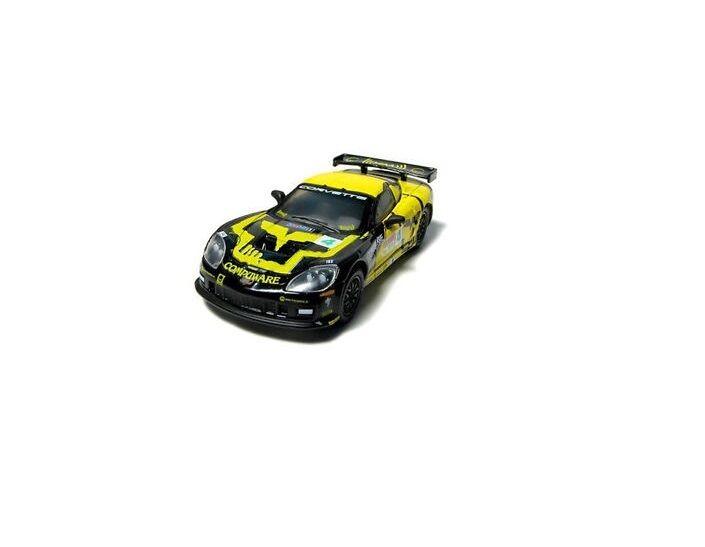 SCX 1 32 Jaune Noir  4 XM CHEVY CORVETTE RACING slot car