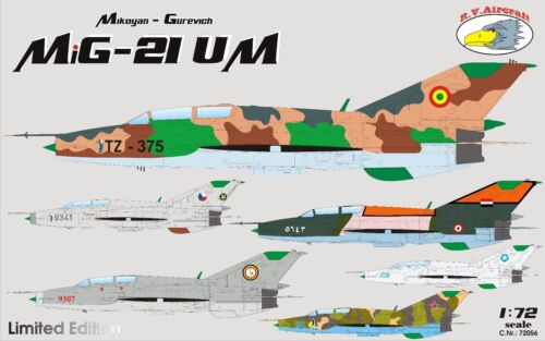 MIKOYAN MIG-21 MFN R.V.AIRCRAFT 1//72 PLASTIC KIT