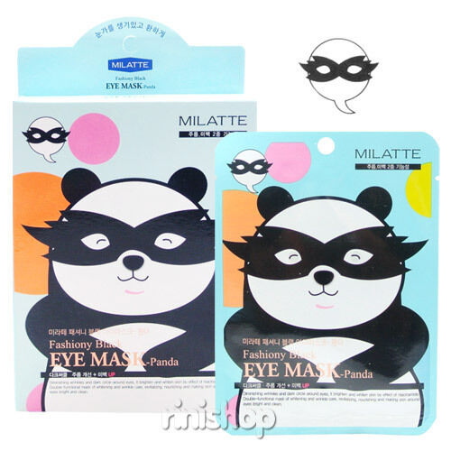 [MILATTE] Fashiony Black Eye Mask-Panda 10sheets rinishop(A)