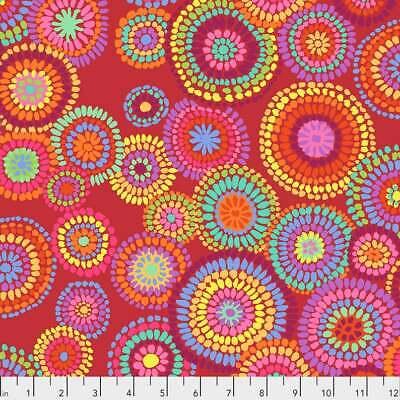 Kaffe Fassett Quilting Cotton 1//2 Meters Spiral Shells Red