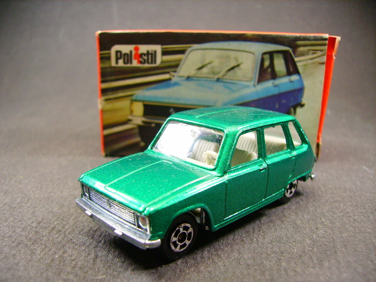 POLISTIL Renault 6    club 33 Politoys Politoys Politoys    ( style Majorette )   boite fef0d8