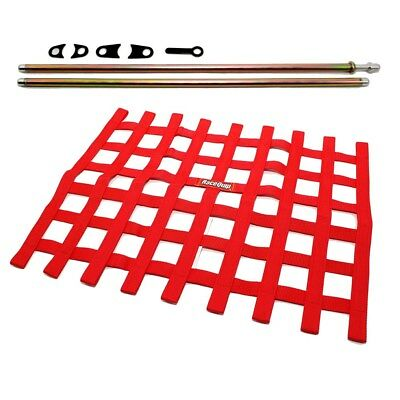 Circle Track Supply >> Racequip Red Window Net And Mounting Install Kit Non Sfi Circle Track Racing Ebay
