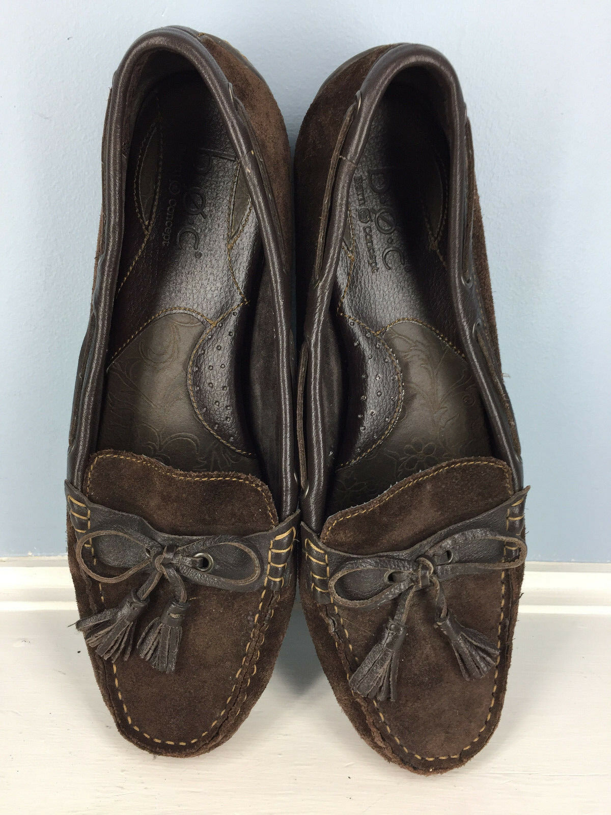 b.o.c. Born Driving Moc Loafer Excellent brown leather Career Casual 10