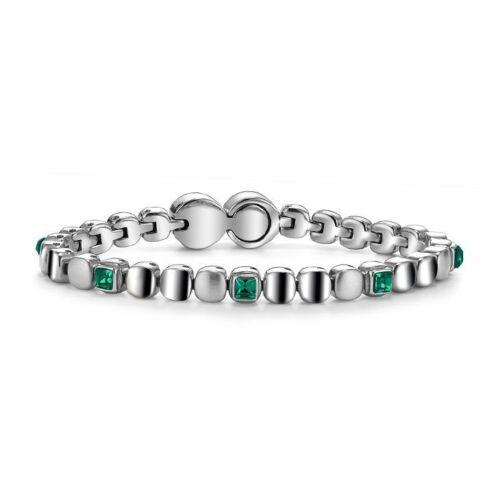 Bracciale Tennis Donna Breil Rolling Diamonds in Acciaio con Cristalli Colorati