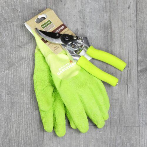 Town /& Country Master Gardener Gardening Gloves /& Secateurs Medium Green B6