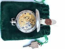 1845 Silver Pocket Watch Pendulum for Chinese Market WORKING Duplex?