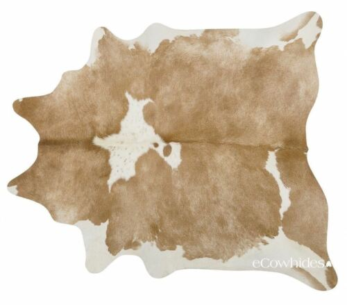 Palomino /& White Brazilian Cowhide Rug Cow Hide Area Rugs Leather Size LARGE