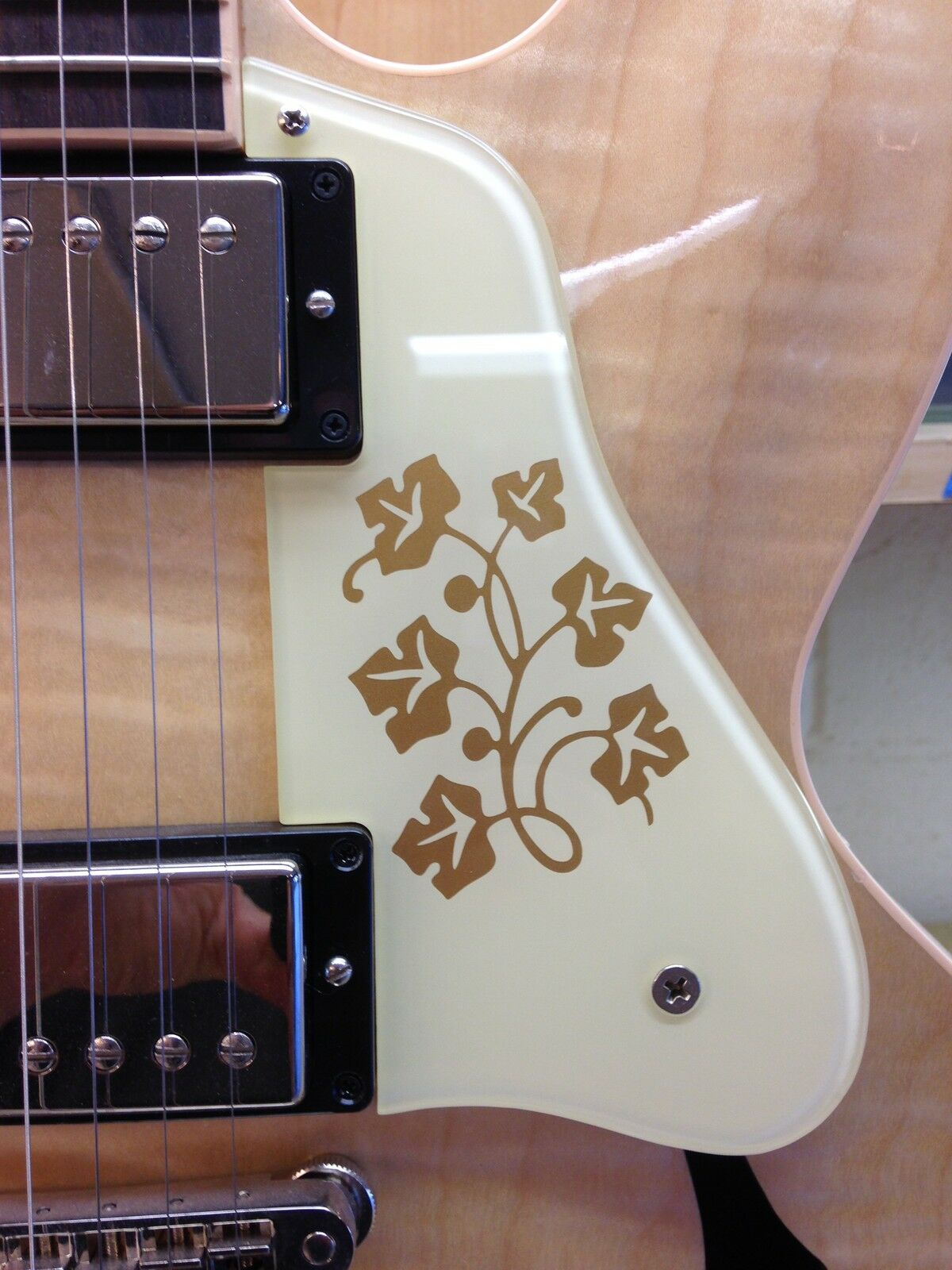 ES-335 SHORT 2010-11 Pickguard W ES-295 Floral Design for Gibson Vintage Project