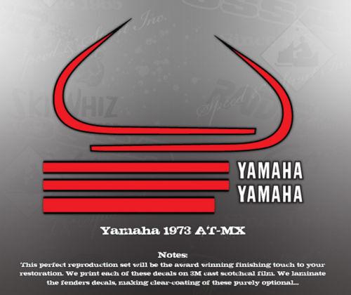 YAMAHA 1973 AT-MX ATMX FENDER TANK DECAL GRAPHIC SET
