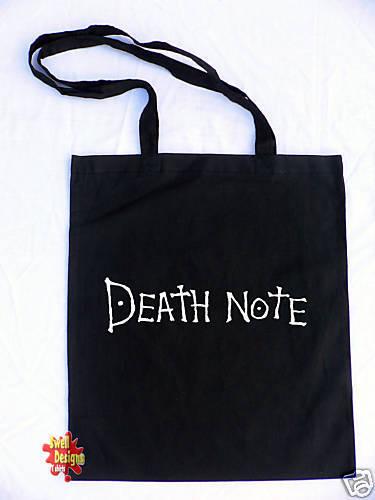 DEATH NOTE Deathnote logo Anime cotton shopper Tote Bag