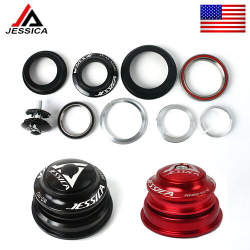 Cycling Headset Bearings 34//44//44-55//44-56mm Fit MTB Bike Tapered//Straight Fork
