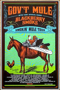 gov 39 t mule blackberry smoke 2016 the smokin 39 mule tour ltd ed new rare poster ebay. Black Bedroom Furniture Sets. Home Design Ideas