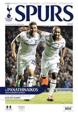 Programm UEFA EL 2012//13 Olympique Lyonnais Tottenham Hotspur