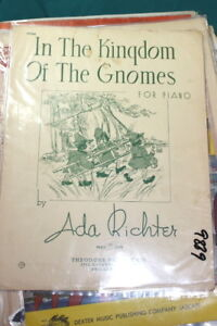 #9889,in Le Royaume Des Gnomes, 1936, Rarement Vu Sheet Music-ldom Seen Sheet Music Fr-fr Afficher Le Titre D'origine